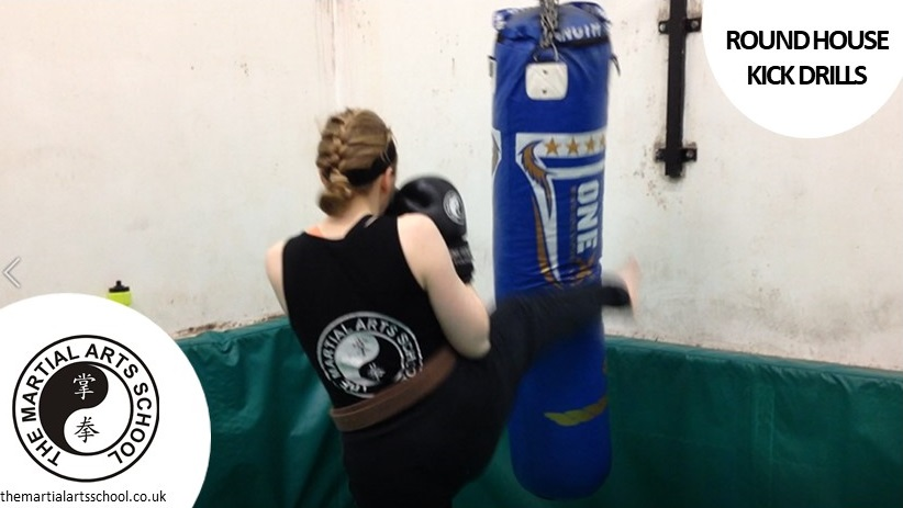 Round House Kicks for Thai Kik Jitsu Kickboxing