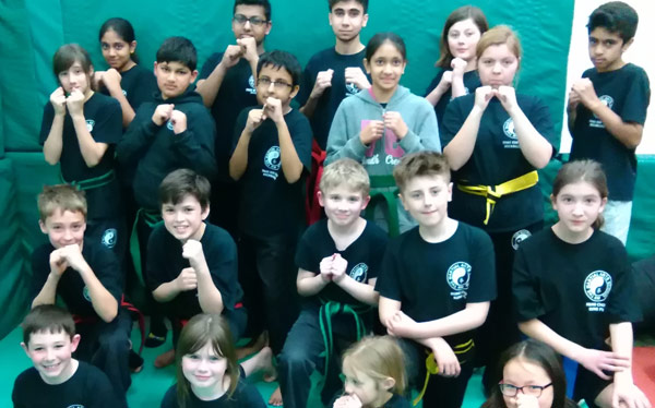 Kick Boxing and Kung Fu - Group shot after a 4 hour grading session